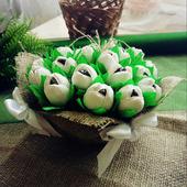 Подарочная композиция с конфетами