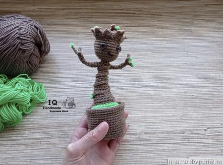 """Вязаная игрушка """"Малыш Грут"""" ручной работы на заказ"""
