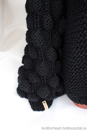 Кардиган Малинки крупной вязки купить в Москве ручной работы на заказ