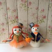 Семья снеговиков Мандаринкины