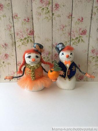 Семья снеговиков Мандаринкины ручной работы на заказ