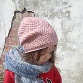 Шапка детская вязаная хлопковая