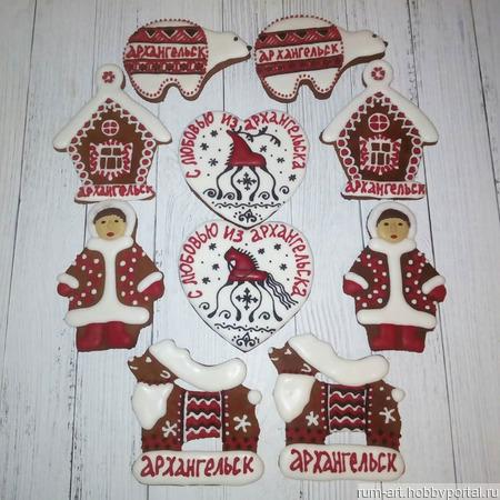 Пряник Козуля Архангельская Традиционная красный ручной работы на заказ