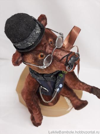 Мишка Тедди Мсье Пуаро ручной работы на заказ