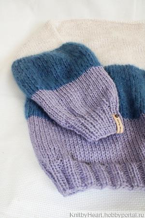 Вязаный свитер в стиле ColorBlock ручной работы на заказ