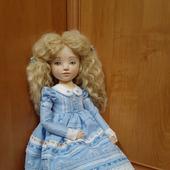 Интерьерная текстильная кукла Лизочка