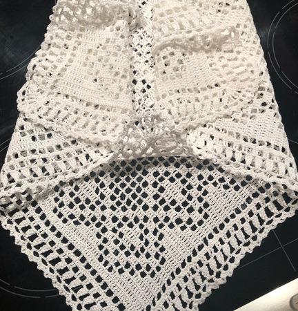 Салфетка пасхальная, белая 50х47см ручной работы на заказ