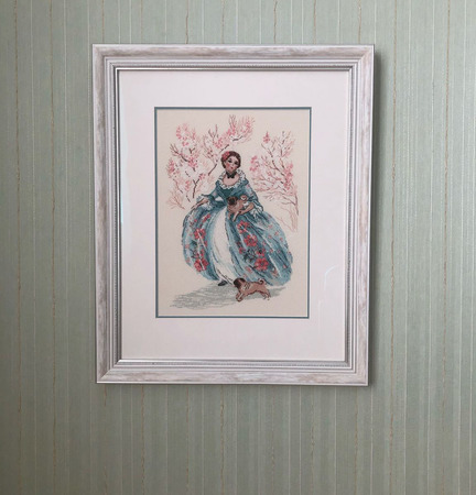 Картина вышитая крестом 50,5х41см ручной работы на заказ