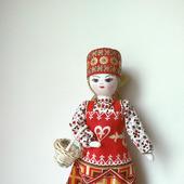 """Кукла """"Анфиса"""" с корзинкой"""