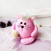 Клубничный котик из флиса