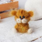 Вязаная игрушка Тигрёнок малютка