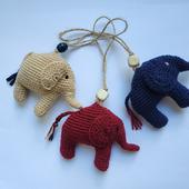 Сувенир Вязаный слоник