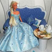 Платье бальное/свадебное для Барби