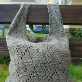 Льняная сумка-авоська
