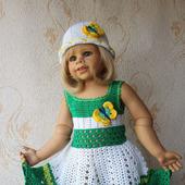 Платье для девочки. Бабочка