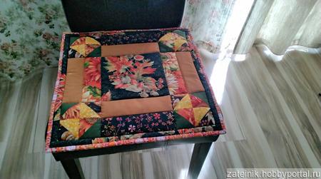 """Подушка на стул """"Листопад"""" ручной работы на заказ"""