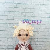 Вязаная кукла Наташка-первоклашка