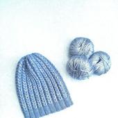 Зимняя вязаная шапка Колосок