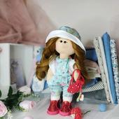 Текстильная кукла с одеждой Мягкая игрушка для девочки в подарок