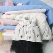 Нарядное длинное платье для текстильной куклы 30-32 см