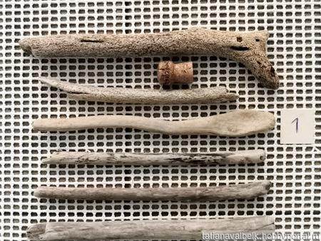 Дерево морское набор 1 фактурные белые дрифтвуд ручной работы на заказ