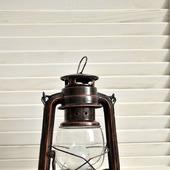 Электрическая керосиновая лампа ретро