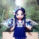 Принцесса Драконов - вязаная игрушка