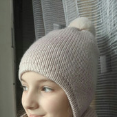Вязаный комплект шапка снуд