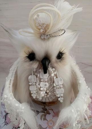 Белая сова ручной работы на заказ