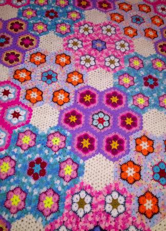 "Плед ""Цветочная мозаика"" ручной работы на заказ"