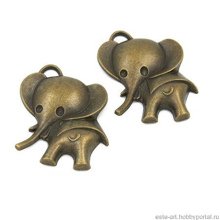 """Подвеска """"Слон"""" ручной работы на заказ"""