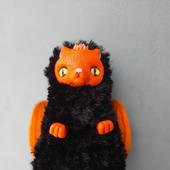 Кот игрушка черный Феникс котобенн
