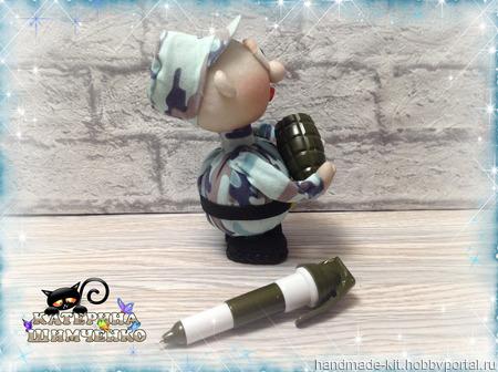 """Интерьерная кукла """"Солдат с гранатой"""" ручной работы на заказ"""