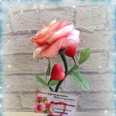 """Интерьерная композиция """"Роза для любимой v2.0"""""""
