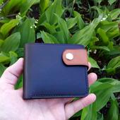 Кожаный мужской кошелек для карт и купюр
