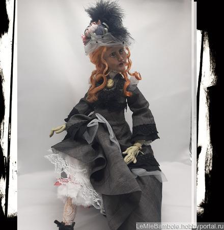 Будуарная кукла Агния ручной работы на заказ
