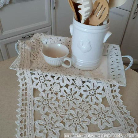 Ажурные салфетки (набор) ручной работы на заказ