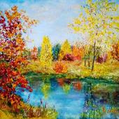 "Картина ""Разбросала осень кружева"""