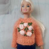 Свитер нарядный для куклы Барби