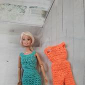 Летний комбинезон для куклы Барби