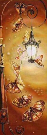 Картина Бабочки, вышивка крестом ручной работы на заказ