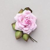 Брошь с розовой розой, нежный цветок из фоамирана