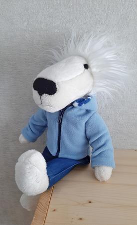 """Белый лев """"Одуванчик"""" ручной работы на заказ"""