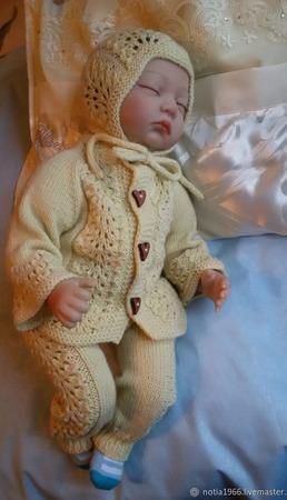 Комплекты одежды для малышей: кофта+штанишки+шапочка ручной работы на заказ