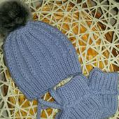 Шапки детские: шапочка+пинетки для новорожденного
