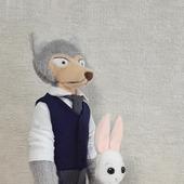 """Волк Легоси и зайка Хару (аниме """"Выдающиеся звери"""")"""