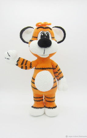 Мягкая игрушка Тигрёнок Ррры ручной работы на заказ