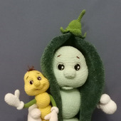 Мягкая игрушка Крох Горох и червячок Хрум