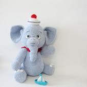 Мягкая игрушка Элефант - вязаный слон