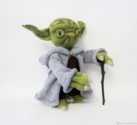 Мягкая игрушка Магистр Йода ручной работы на заказ